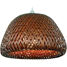Amazon natural wicker lamp shade factory 12 brown wicker double dome bamboo lampshade pendent lampshade mozeypictures Gallery