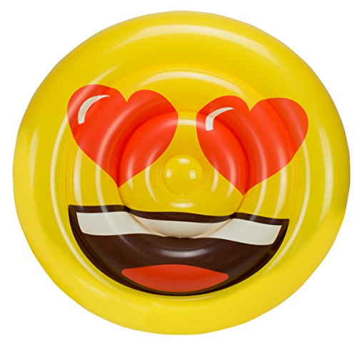 Emoji- Colchoneta Hinchable Cara Corazones (Saica 5886)