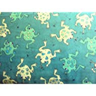 Fat Quarter ranocchie verdi cotone tessuto 50cm x 55cm
