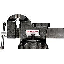 Ouve.130 Backen-Breite mm // Spannweite mm // Gewicht kg 1 Grau auf Drehfu/ß Schraubstock f/ür Werkbank Larg.125 Poid.10,90