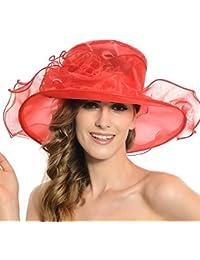 7013be9b2 Amazon.co.uk: Red - Sun Hats / Hats & Caps: Clothing