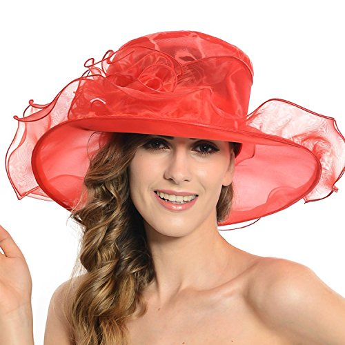 discoball-womens-sun-hat-floral-organza-flat-large-wide-brim-gauze-kentucky-derby-cap-folding-sun-su