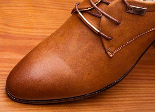 Hylm Sneakers Chaussures De Mariée Nouvelles Chaussures D'affaires Pour Hommes De Brun Clair