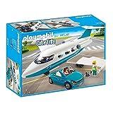 PLAYMOBIL 9504 Spielset Executive private Jet Flugzeug und Auto Cabrio inkl 3 Figuren Hund Zubehör .