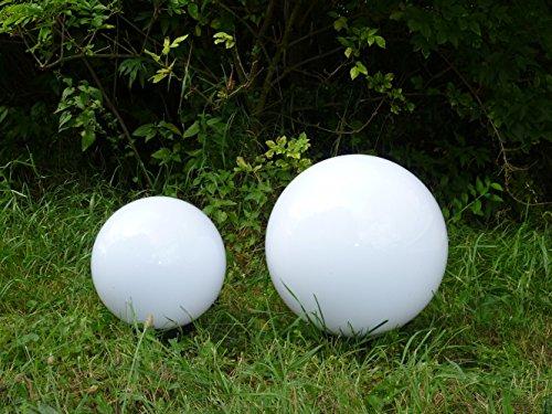 Kugelleuchte Gartenleuchte Gartenlampe Kugellampe Aussenleuchte im 2er Set (20+30cm) Marlon, Kugellampe mit Erdspieß, E27, Dekoration