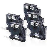5 Rolle 40913 S0720680 D1-Etiketten, Selbstklebendes Etikettenband Kompatibel für den DYMO Drucker LabelManager Schwarz auf Weiß 9mm x 7m für LM 160 210D 280 360D 420D 500TS PnP WiFi LW 400 450 Duo (2 Jahre Garantie)