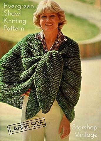 Evergreen Shawl: Vintage 1970s Knitting Pattern