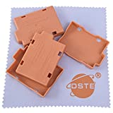 DSTE 4pcs Battery Storage Case/Organizer/Holder Protection Cover For Canon EOS 450D 500D 1000D Kiss F X2 X3 Rebel XS XSi T1i LP-E5 Camera Battery