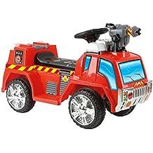 Toyrific 6v con pilas eléctrico de bomberos montan en el coche camión vehículo con pistola de burbujas de función Edad 3-6 años
