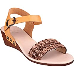 Riva Barbados Leather Women's Sandals Brown - 38