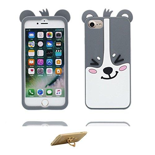 """iPhone 6 / 6s Coque Case 4.7"""", TPU Material Flexible iPhone 6S Étui iPhone 6 Cover [Choc à l'épreuve] [ 3D Cartoon cactus Les épines ] [ Pretty Soft ] & ring Support color 2"""