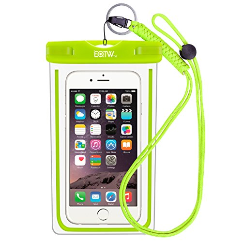 EOTW IPX8 Handyhülle Wasserdicht, Handy Wasserschutzhülle Kompatibel mit iPhone XR/6 Plus/SE, Huawei P10/P9, Samsung Galaxy S10/A7 2018, Strandtasche für Handys bis zu 6,5 Zoll, Grün -