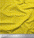 Soimoi Gelb Viskose Chiffon Stoff Pinselstrichs abstrakt