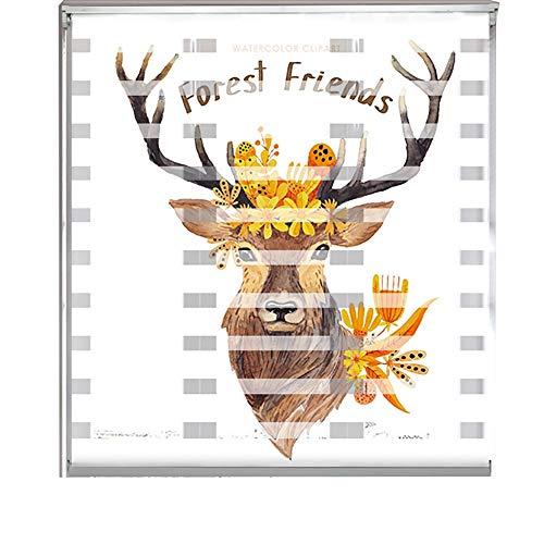 Jalousien fenster Punch Free Mini Blind Fabric Plant Druckvorhänge, Original Light Filtering Plissee Papier Schatten Weiß, Multi-Size (größe : 60x160cm) (Papier-mini-jalousien)