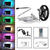 Simfonio Led Streifen Beleuchtung 5M 16.4Ft 150Leds 5050 SMD Rgb Led Full Kit mit Fernbedienung 44 Tasten und Netzteil 12V 2A für Heim Dekorative
