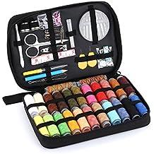 OldShark - Juego de ganchillo de ganchillo para tejer agujas de lana portátil, multicolor sewing kits