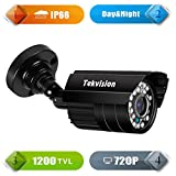 Tekvision® AHD 720P Waterproof Outdoor single pack HD Surveillance Security CCTV Bullet Camera Indoor Night Vision Metal Housing Camera for AHD 720P 1080N 1080P DVR (Not Work With Old 960H DVR System, Camera only, No power No cable)
