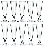 100 Plastik Sektgläser 0,1L | Einweg Sektglas Sektkelche für Hochzeit | Champagnergläser aus Kunststoff Party Becher von STAR-LINE®