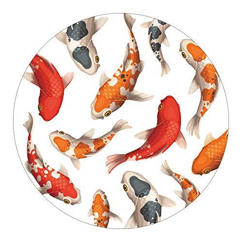 AnTina TAPES Anti Rutsch Aufkleber/Duschmatte, Duscheinlage, Matte, rund Ø 55 cm, farbiges Motiv, rutschhemmend, hygienisch, pflegeleicht (Kois)