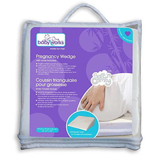 Baby Works Pregnancy Wedge with Bamboo Cover (Off-White)