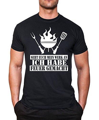 Ich habe Feuer gemacht T-Shirt Fun Shirt mycultshirt neu Grillmeister Grillen (Grillen Habe)