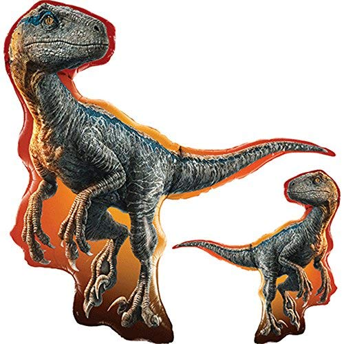 Qualatex - Globo de lámina superformada, diseño de Jurassic World Raptor