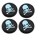 #8: Everycom Skeleton Design Silicone Thumb Sticks Caps Handle Joystick Grip Cover For With PS4/Xbox 360 Controllers - Blue 2 Pair (4Pcs)