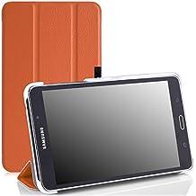 MoKo Samsung Galaxy Tab 4 7.0 / Tab 4 Nook 7 2014 Funda - Ultra Slim Ligera Smart-shell Funda para Samsung GALAXY Tab 4 7.0 Pulgadas Tableta, NARANJA (NO va a caber el Tab 3 7.0)