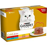 8 cajas de 12x85gr de Purina Gourmet Gold Fondant Comida para gatos, surtido varios sabores