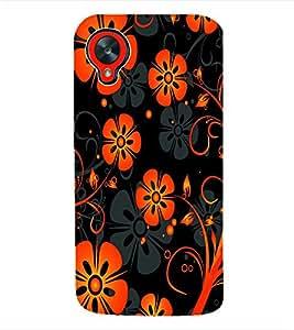Fuson 3D Printed Floral Design Designer Back Case Cover for LG Google Nexus 5 - D928