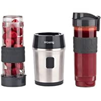 H.Koenig Mini Blender Smoothie Transportable Compact 570mL SMOO9 Sans BPA Puissant 300W, Mixeur à Smoothie 2 Bouteilles…