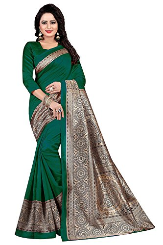 Manorath Women\'s Kalamkari Khadi Silk Saree With Blouse