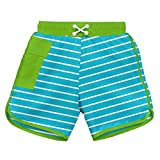 i play. 722185-638-44 Schwimmwindel Board Shorts, 12-18 Monate, Stripe, aqua