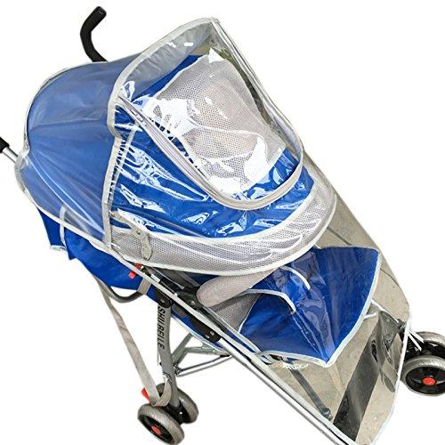 Elonglin–doppia copertura impermeabile per passeggino parapioggia universale mantellina parapioggia copertura impermeabile modalità trasparente pare-poussière anti pioggia fissato su tutti tipi di passeggino