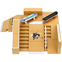 OnehomeStore 5pcs Skate Park Kit Ramp Parts para Tech Deck Finger Board Ultimate Accesorios de entrenamiento deportivo