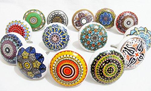 Tür Brust (10x Handwerker Vintage Look Keramik Knöpfe Tür Griff Brust Schrank Schublade Pull von