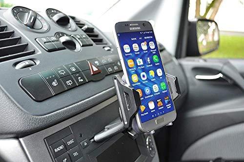 LEDELI CD Schacht KFZ Auto Tablet PC Halterung Handy Smartphone Magnethalterung Autohalterung für Armaturenbrett Kopfstützenhalterung (Universal Halterung f. CD Schlitz)