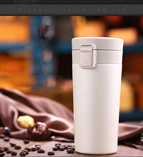 Outdoor Auto Serie Water Cup 350ml Hochwertige Vakuumisolierung Big Travel Kaffeetasse Heiß Und KaltgeträNk Mug, Schwarz/Weiß , white Go Travel-cup-kessel