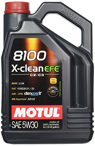 Olio lubrificante per motore Motul 8100X-clean EFE C2/C35W30, 5 litri (107206/74)