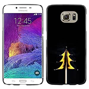 Omega Covers - Snap on Hard Back Case Cover Shell FOR Samsung Galaxy S6 - Tree Spruce Flames Match