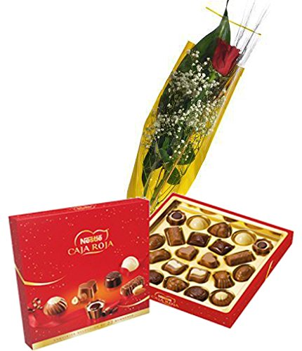 estuche-de-bombones-caja-roja-nestle-200gr-y-rosa-natural-en-envoltorio-de-regalo-tarjeta-con-nota-p