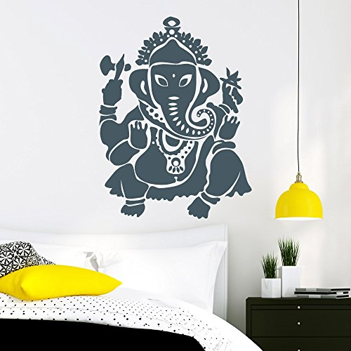 """anesha, Elefant Buddha"""" - Wandtattoo / 49 Farben / 4 Größen / türkis / 115 x 152 cm (Türkis Elefanten-statue)"""