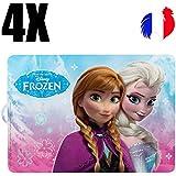 4 sets de table La Reine des Neiges, Frozen, set de table enfant, original, princesse, set de table rigide, plastique, pvc, dessous de plat