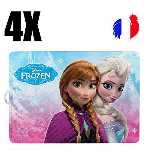 4manteles individuales de mesa Frozen, Frozen, set de mesa infantil, Original, princesa,...
