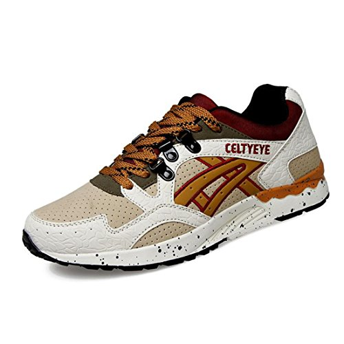 Men's Pu Leather Lace Up Breathable Running Shoes 2