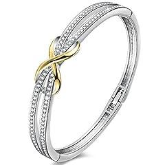 Idea Regalo - Angelady braccialetti per donna Infinito Argento