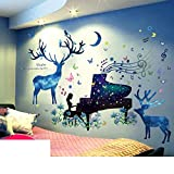 AIWQTO Wall stickers,3d wallpapers self-adhesive university dormitory bedroom bedside background wall paper kids room wall decorations-P 210x101cm(83x40inch)