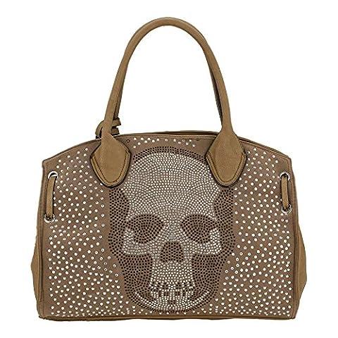 Sac A Main Avec Tete De Mort - Rose vif-sKULLY bAG shopper sac à main