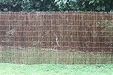 Weidenmatte 3m x 1m Höhe Sichtschutzmatte Farnmatte ganze Stäbe