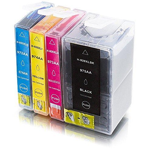 Preisvergleich Produktbild ms-point® 4x Kompatible Druckerpatronen XXL mit Chip für HP OfficeJet 6000 6500A 7000 7500A ersetzt NR. 920 CD975AE CD972AE CD973AE CD974AE